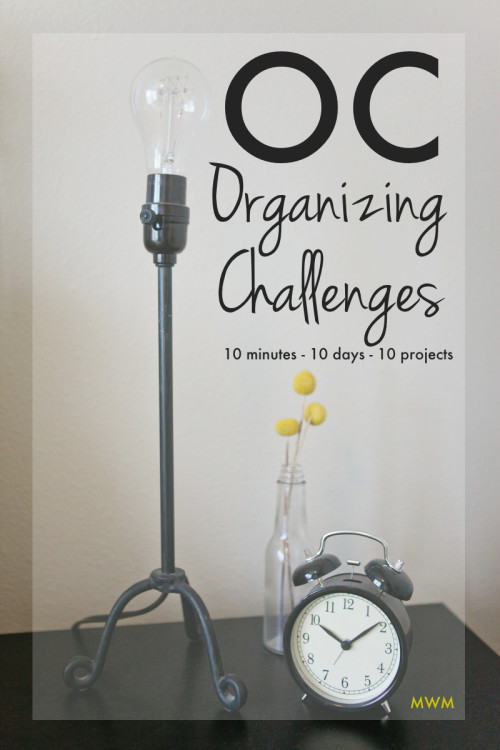 10 Minute Daily Organizing Challenges