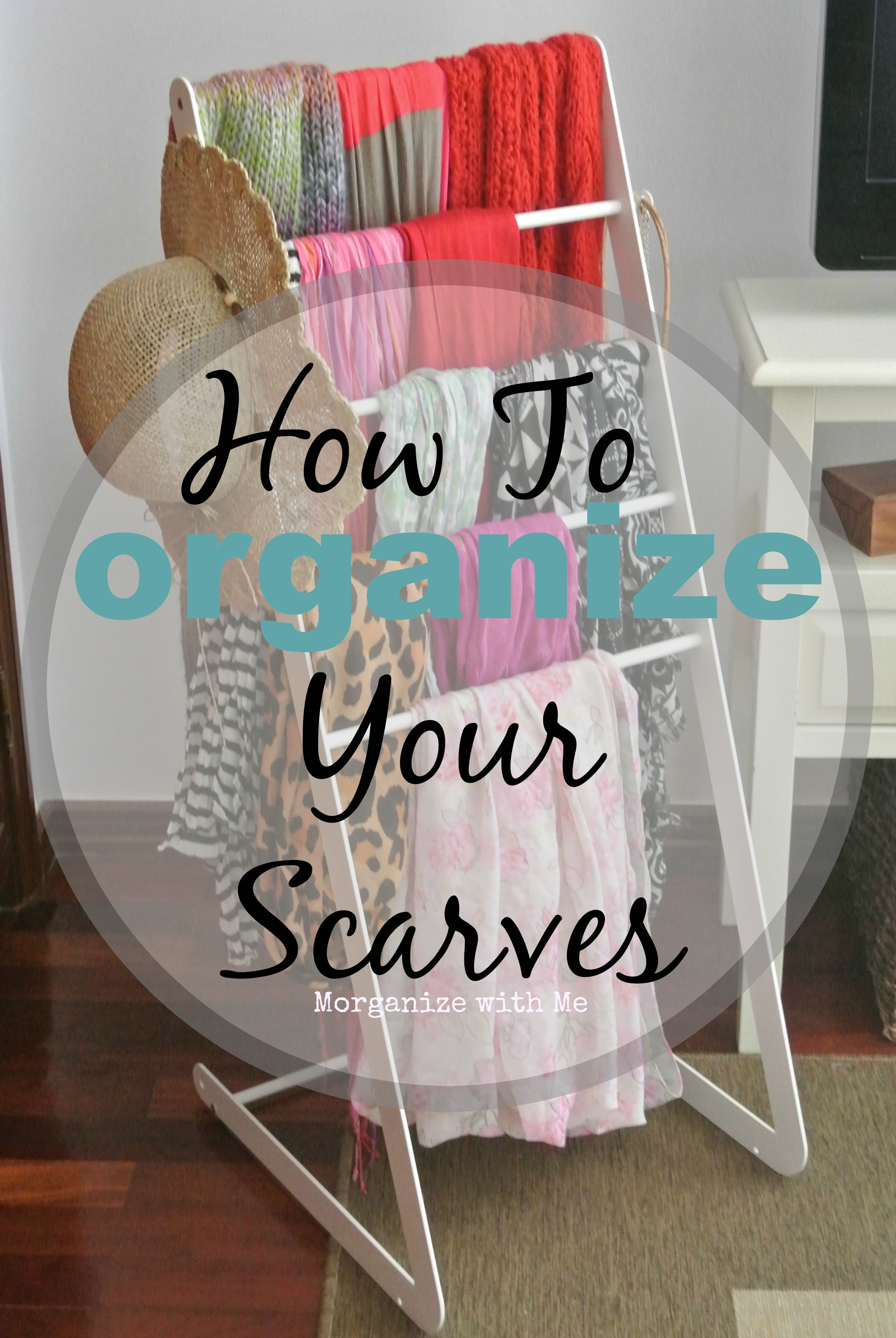 how to organize your scarves a bowl full of lemons