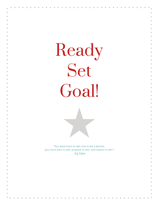 Goal Setting Printables Packet