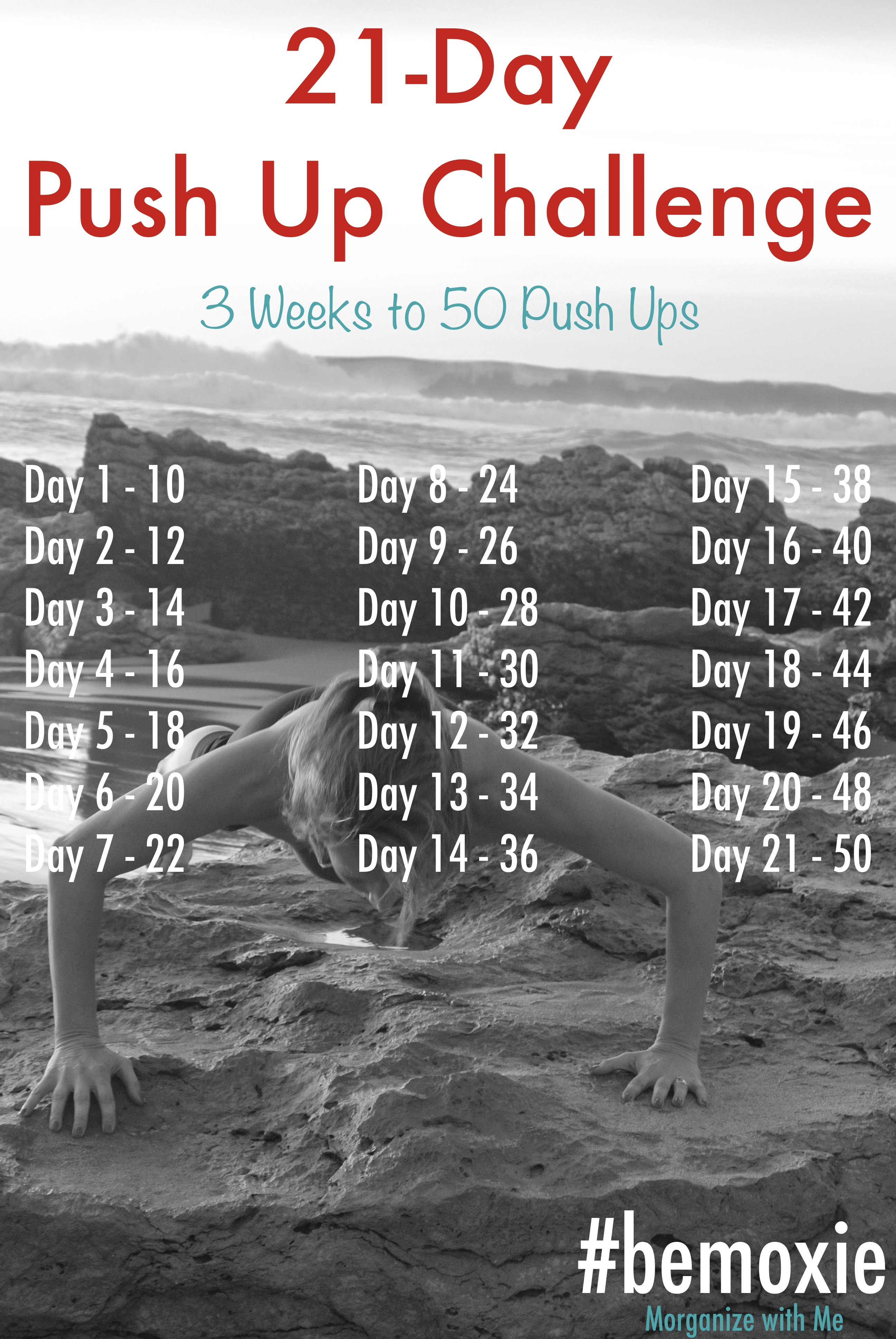 21 Day Push Up Challenge Morganize With Me