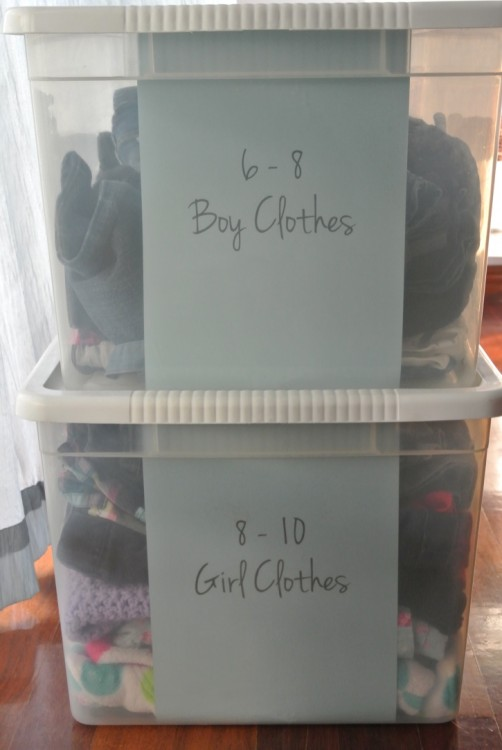 Kids' Clothes More Organized